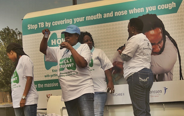 Woman encourages people to get screened for TB