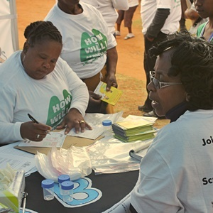 women take part in tb campaign