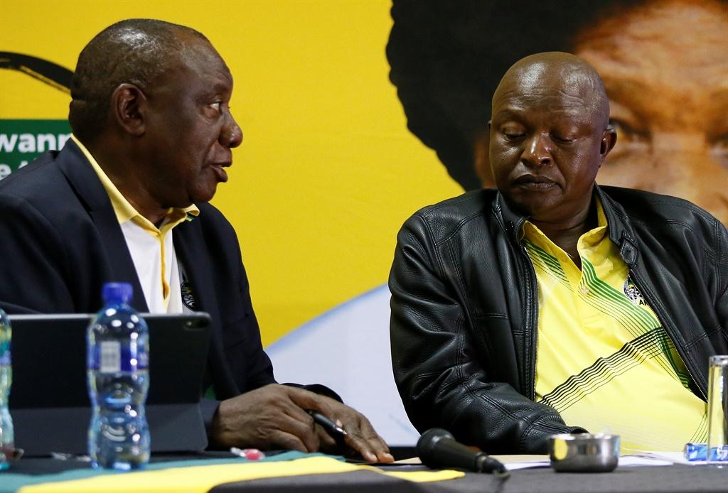 ANC President, Cyril Ramaphosa, and Deputy President, David Mabuza.