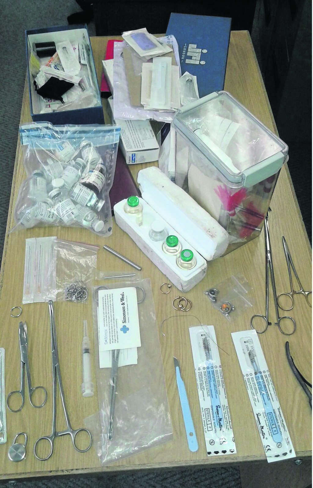 These tools were found in the house of a Danish weapons dealer who allegedly sliced off women's sexual organs and kept them in his freezer.