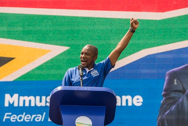 Mmusi Maimane during the Democratic Alliance (DA) 2019 national elections campaign launch on September 22, 2018 in Johannesburg. (Photo by Gallo Images / Netwerk24 / Deon Raath)