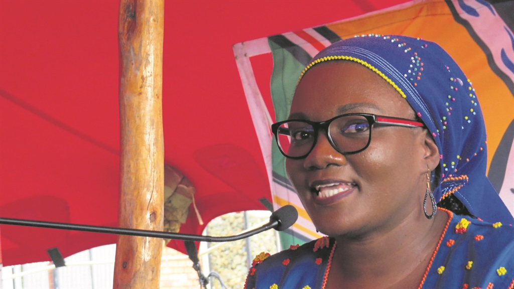 MEC for Sport, Arts and Culture, Bongiwe Mbinqo-Gigaba, during her speech on Human Rights Day.
