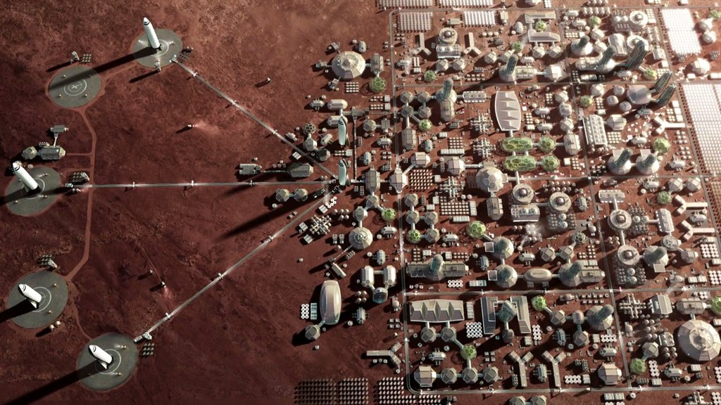 SpaceX Mars city plan