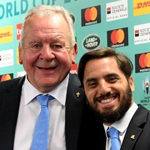 Bill Beaumont and Agustin Pichot (Getty Images)