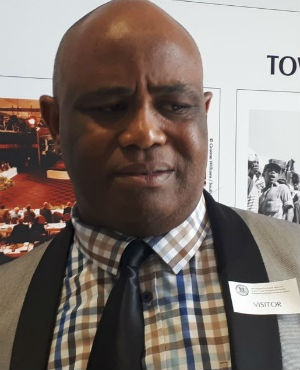 Western Cape Deputy Provincial Police Commissioner Major General Mpumelelo Manci attends the Day Zero briefing. (Jenni Evans, News24)