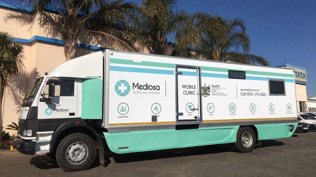 A mobile clinic provided by Mediosa. Picture: mediosa.co.za