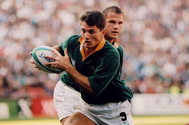 SOUTH AFRICA - UNDATED: Joost van der Westhuizen of the Springboks playing rugby in South Africa (Photo by Wessel Oosthuizen/Gallo Images)