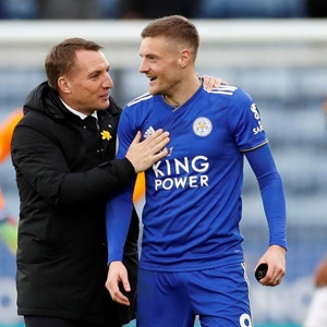 Brendan Rodgers and Jamie Vardy