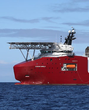 The Australian Defence Vessel Ocean Shield on a mission to drop sonar buoys to assist in the acoustic search for missing Malaysia Airlines flight MH370 in the southern Indian Ocean. (File, AFP)