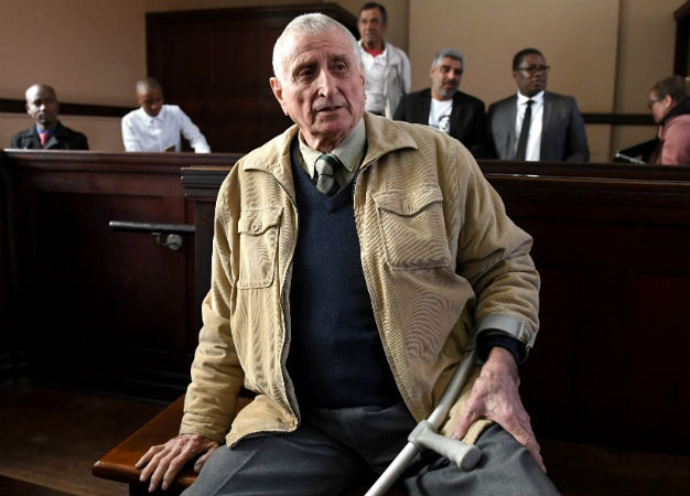 Former security branch police sergeant Joao Jan Rodrigues is seen during his appearance at the Johannesburg Magistrate's Court in relation to the murder of slain activist Ahmed Timol. (Deaan Vivier, Gallo Images, Netwerk24, file)