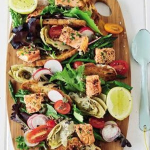 recipe, salad, fish