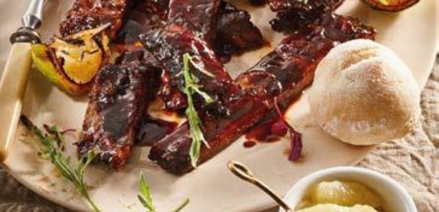 ribs and bread