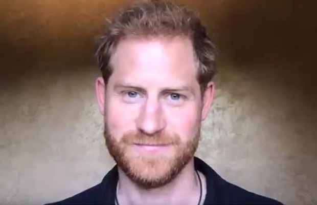Prince Harry shares special video message.