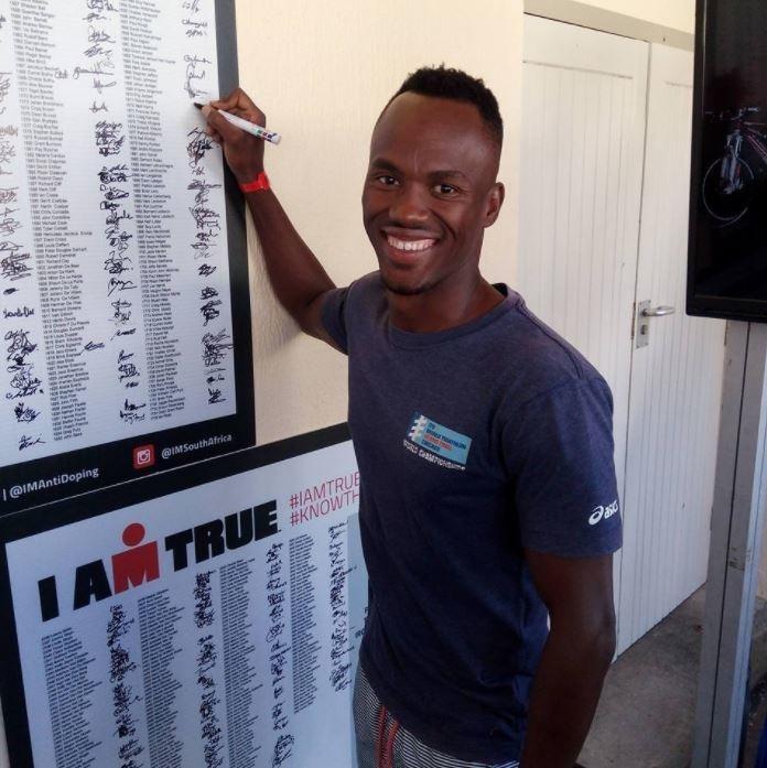 Die driekamp-atleet Mhlengi Gwala. Foto: Facebook.