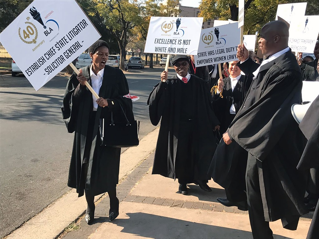 Black Lawyers Association members marched to the Union Buildings to demand fair treatment from the government. Picture: Supplied