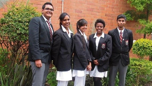 Some of Heather Secondary matric pupils who wrote the Afrikaans paper yesterday (from top) — Kashveer Ramgulam, Hannah Padayachee, Keara Nandhlal, Silindile Bujela and Navesan Govender.