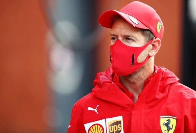 Sebastian Vettel of Germany and Ferrari. (Photo by Mark Thompson/Getty Images)