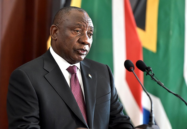 HIs Excellency President Cyril Ramaphosa receives