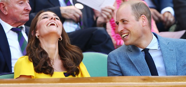 The Duke and Duchess of Cambridge at the Wimbledon men's singles final. (Photo: Getty Images)