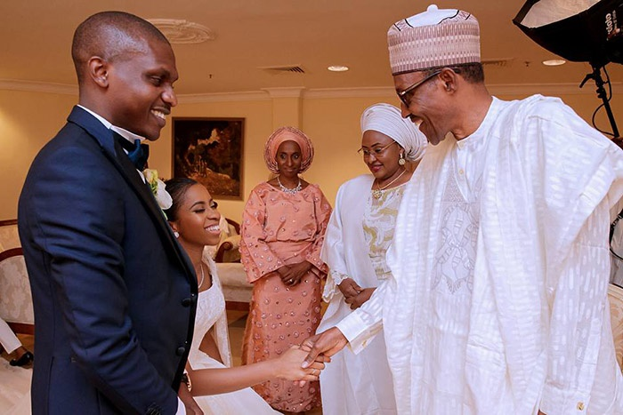 Buhari leads governors, others to Osinbajo daughte