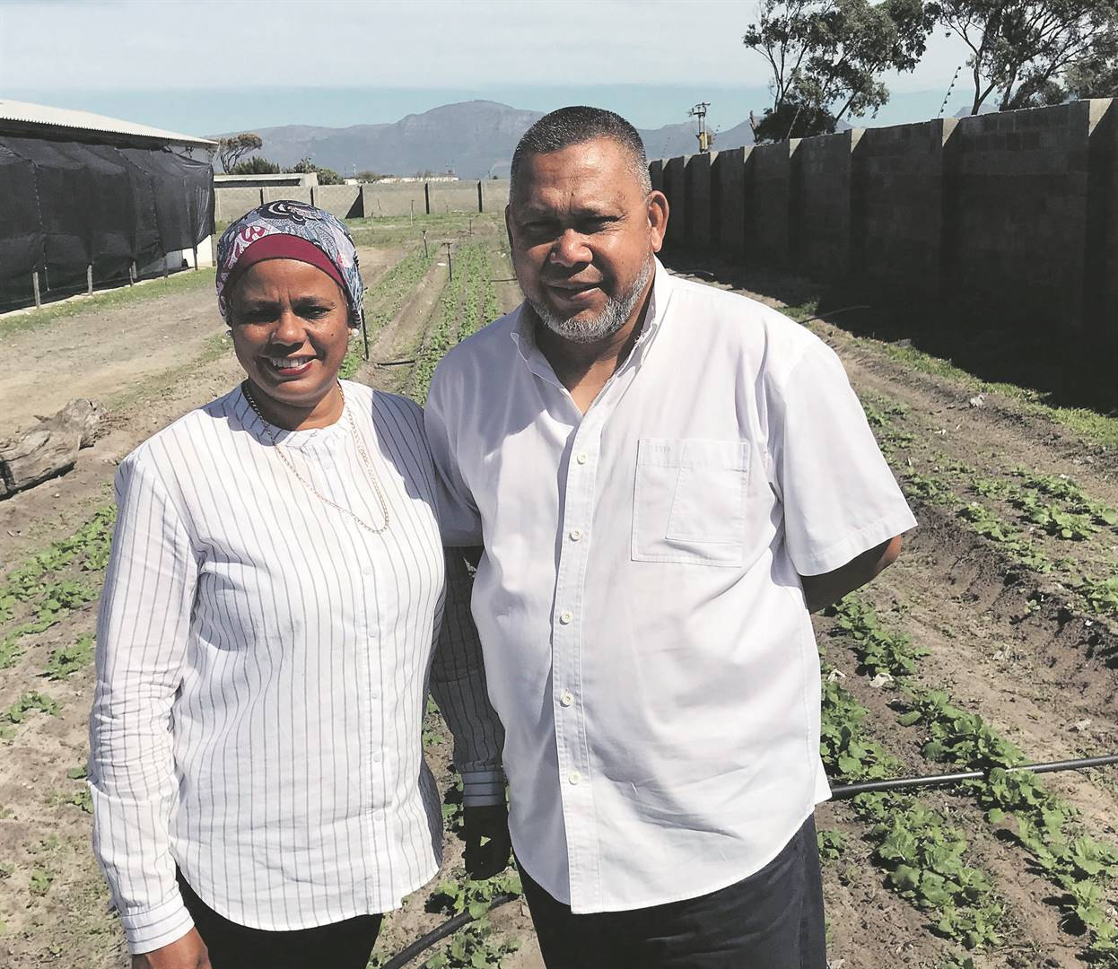 Wadea Jappie and Agmat Brinkhuis of Chamomile Farming Enterprises in the Philippi Horticultural Area. Picture: Biénne Huisman