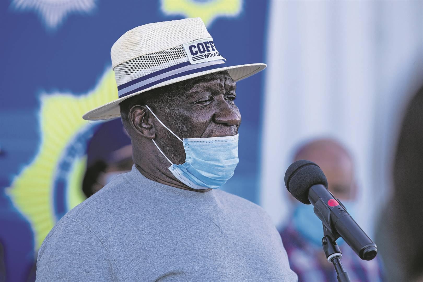 Bheki Cele, minister van polisie.Foto: Roger Sedres