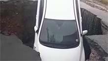 WATCH: Sinkhole engulfs car as flooding hits Pretoria