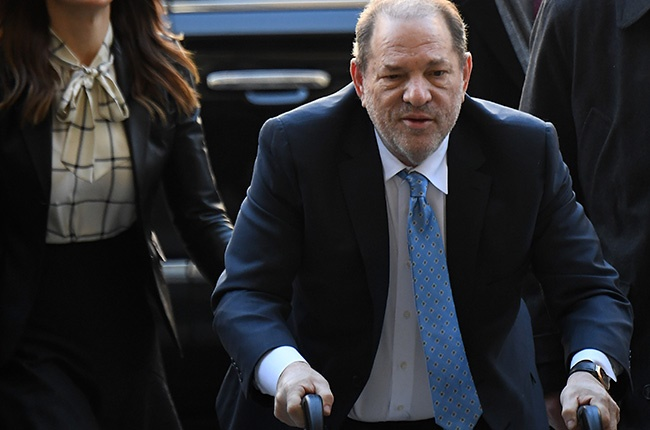 Harvey Weinstein arrives at the Manhattan Criminal Court, in New York City in February.