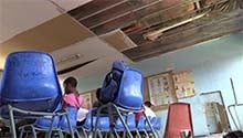 WATCH: Soweto primary school falling apart – roofs collapsing, toilets broken