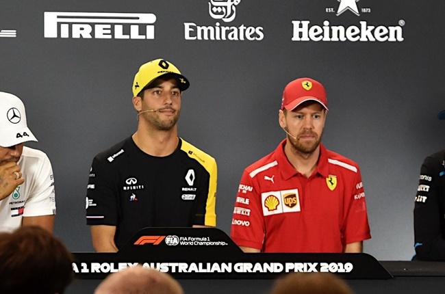 Daniel Ricciardo (left) and Sebastian Vettel. Image: TeamTalk