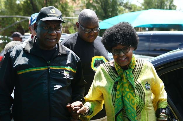 President Cyril Ramaphosa with Winnie at the ANC's voter registration drive