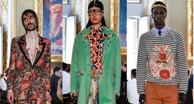The Gucci cruise collection with elements of camp