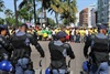 zuma supportes with police