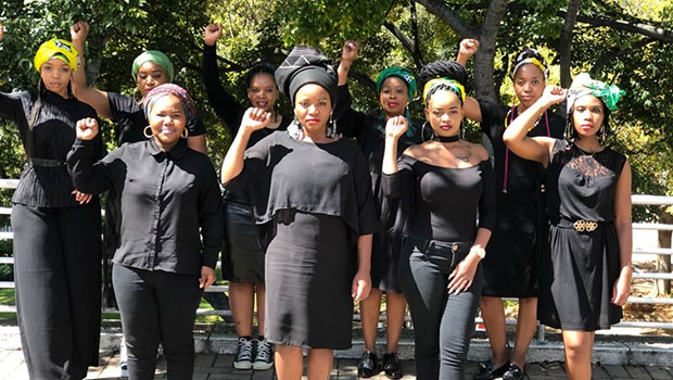 Women heed the ANC's call to honour Winnie Madikizela-Mandela by dressing in in all black and donning doeks. Credit: Supplied