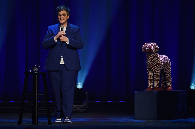 Hannah Gadsby in the comedy special 'Hannah Gadsby: Douglas.'
