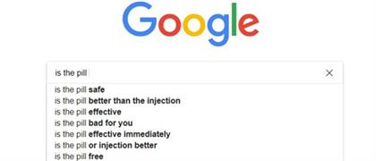 Google autocomplete search to question is the pill