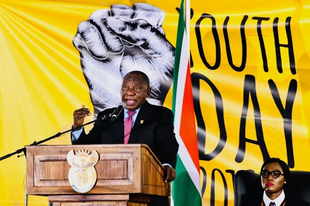 President Cyril Ramaphosa at the 2019 Youth Day Celebration at the Peter Mokaba Cricket Club in Polokwane. Photo: Supplied