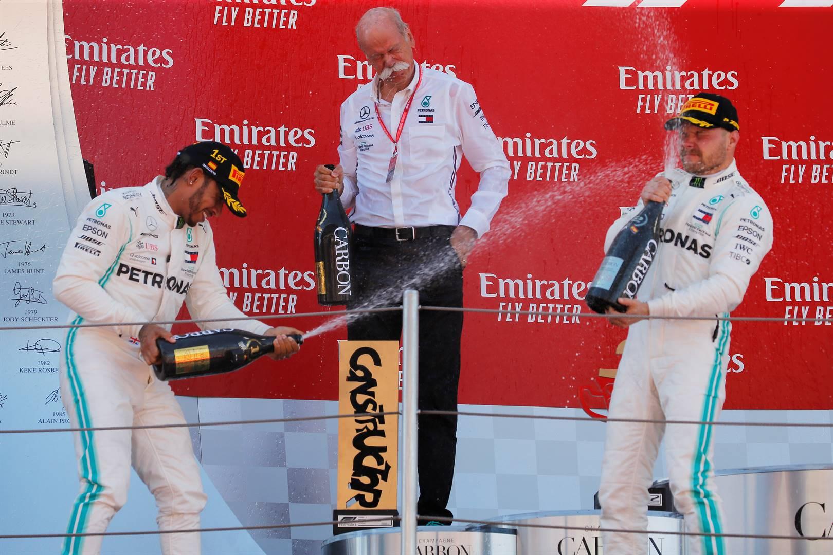 Lewis Hamilton (left) and Valtteri Bottas (right). Picture: Reuters