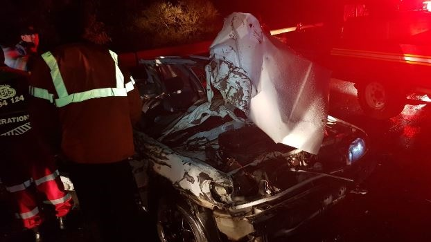 Four Copesville family members were killed and another critically injured when a bus collided head on with their car on Saturday night.