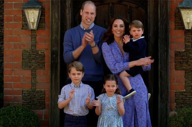 The Duke and Duchess of Cambridge with their children Prince George, Princess Charlotte and Prince Louis.