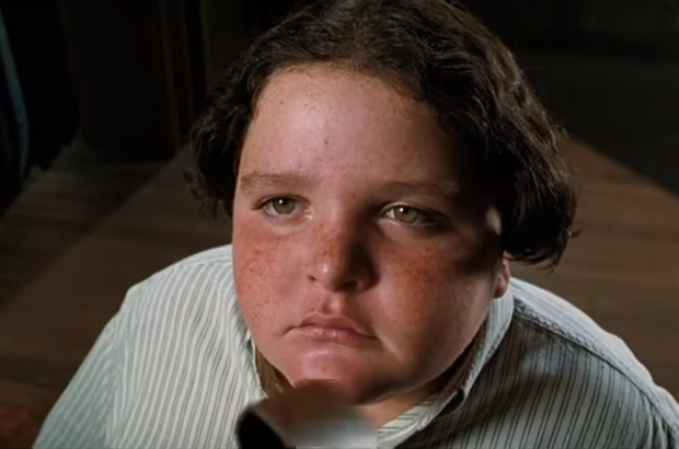 The iconic scene from Matilda when Bruce Bogtrotter ate an entire cake in front of everyone at school.