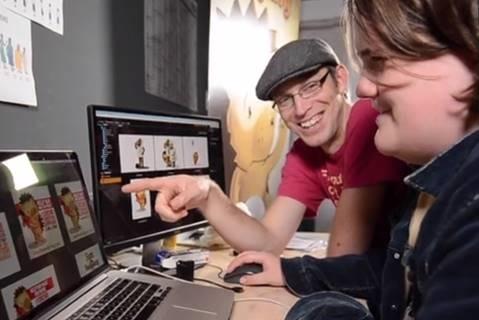 Rita du Plessis working on Sam the Hedgehog
