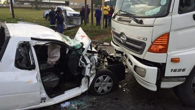 G4S security guards were involved in a serious accident in Mkondeni. All five security guards were severely injured, with one on life support.