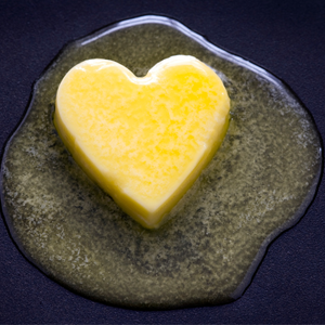 Heart shaped butter