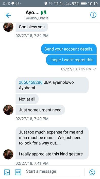 lending money to someone on social network