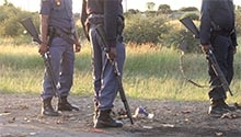 WATCH: Police fire rubber bullets at protesters in Mahikeng