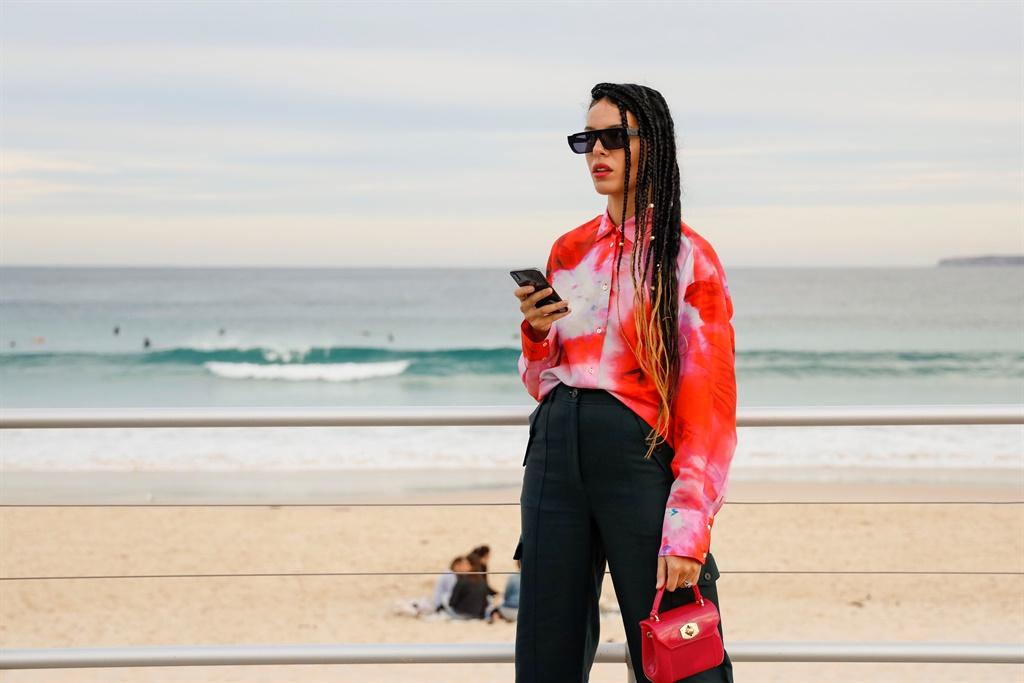SYDNEY, AUSTRALIA - MAY 13: Fleur Egan wearing red