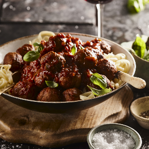 Succulent tomato sauce infused meatballs with pasta (PHOTO: Drum)