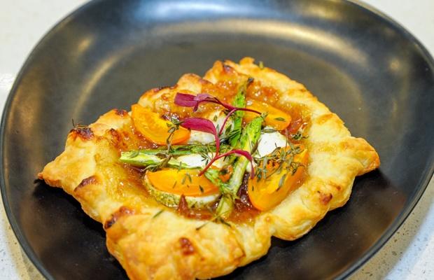 a dish of beautiful tart