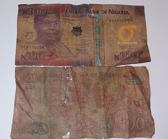 dirty naira note nearly sends okada man to early g
